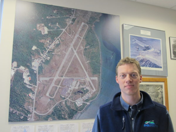 Brad Madeira, manager of Hancock County-Bar Harbor Airport in Trenton.