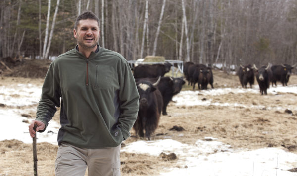 Lokie Horn and his wife Adria stated their farm in Pittston two years ago. They keep a herd of yak, chickens, ducks, geese and rabbits. Lokie said they decided to raise yak for their milk and in smaller part for their meat.