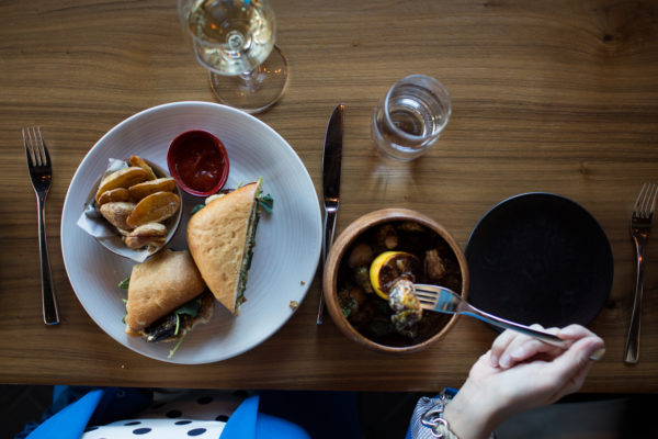Quick, gourmet lunch options attract crowds at Union restaurant in the Press Hotel.