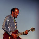 Chuck Berry on stage at Hidden Valley Ranch, in Irvine, California, in a July 2001 file image. Berry died at 90 on Saturday, March 18, 2017.