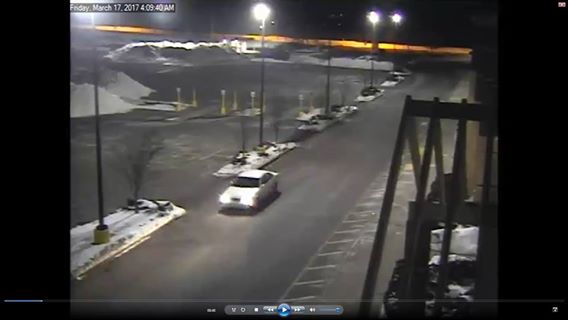 This white sedan was caught on surveillance footage after an early morning burglary at Kohl's in Westbrook, where a thief made off with a large amount of jewelry.