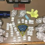 The Massachusetts State Police arrested three men, including two from Maine, who were allegedly taking heroin purchased in Connecticut to sell in Maine.