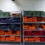 Caption Inmate jumpsuits at the Penobscot County Jail. More than two-thirds of the jail's inmates are awaiting court appearances.