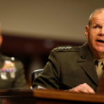 Commandant of the Marine Corps General Robert Neller testifies during a Senate Armed Services Committee hearing on the Marines United Facebook page on Capitol Hill in Washington, D.C., March 14, 2017.