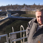 Andy Rudzinski, superintendent of the Bangor Wastewater Treatment Plant, talks about the function of the biofiltration tower at the plant in January 2016.