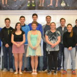 These 11 seniors from Old Town High School have earned spots on the National Interscholastic Swimming Coaches Association Academic All America Team. The Coyotes' honorees include (front, from left): Johanna Burgason, Allison Ketch, Alexis Rutherford and Kassidy Harriman. In the back row (from left) are Dominic D'Angelo, Nate St. Jean, Jacob Ketch, Nick Feero, Nick Gould, Drew St. Jean and Garrett Stoyell.