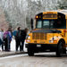 Camden Hills Regional High School students get onto a bus after being dismissed from school Friday afternoon. Maria Libby, superintendent of MSAD 28, part of the Five Town CSD, said Wednesday that the vast majority of parents in her district support starting school later.