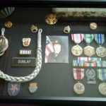 Medals earned by former Army Staff Sgt. Peggy Dunlap of Waterboro.