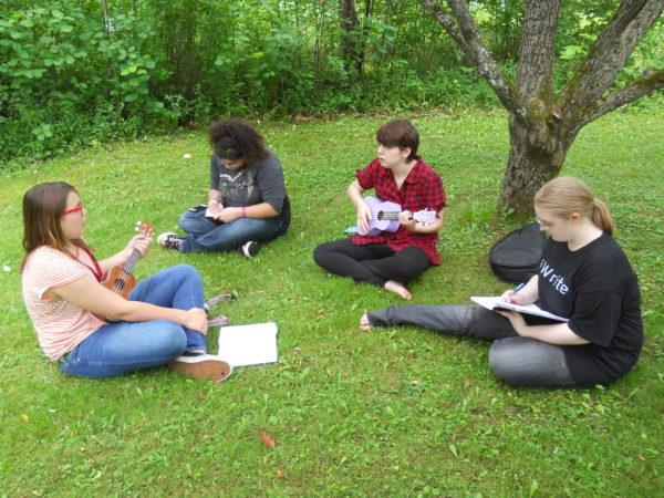 Campers work on a project during last year's Young Authors Camp, part of the Maine Writing Project at the University of Maine.