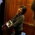 Sen. Susan Collins , R-Maine, departs after a vote at the U.S. Capitol in Washington, Feb. 17, 2017.