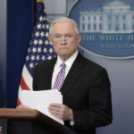 US Attorney General Jeff Sessions speaks during the Daily Briefing at the White House Monday, March 27, 2017 in Washington, D.C.