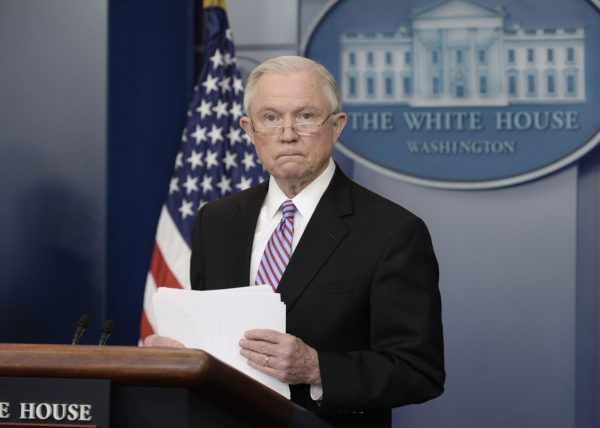 Image result for Jeff sessions, at justice department, photos