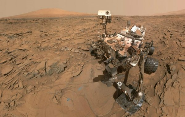 The Curiosity Mars rover took this 'selfie'on the surface of Mars on May 11, 2016, before it began traversing part of the Red Planet that research scientists have named &quotBar Harbor&quot and which has several features named after places in the Pine Tree State.