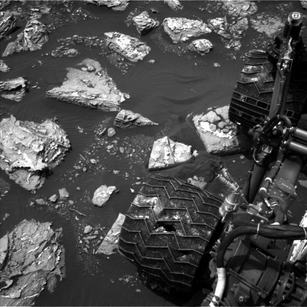 A picture taken on Mars by the Curiosity Rover, seen on the right, shows rocks in Sawyer's Cove, named after the Sawyer Cove in Jonesport, Maine.