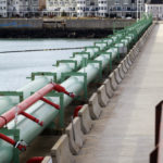 Oil conduit leads away from the Portland Pipe Line Corporation's terminal facility on the South Portland waterfront, Feb. 1, 2013.
