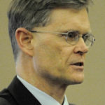 Waldo County District Attorney Geoffrey Rushlau delivered opening arguments at Waldo County Superior Court, Jan. 7, 2011.