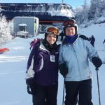 Cindy Rand Stephenson (right) and her daughter Michaela Stephenson pose for a photo on a recent ski trip. The elder Stephenson was a first-team selection on the BDN's first All-Maine girls basketball team in 1977.