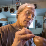 HARMONY, MAINE -- 03/01/2017 -- Bronze sculptor David Smus combines his love of nature and fine art to create limited edition bronzes in his Harmony home studio. Micky Bedell | BDN