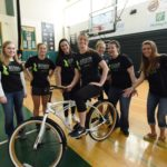 The members of Husson University's Organization of Physical Therapy Students (OPTS) are hosting their 19th Annual Wheelchair Basketball Tournament at Newman Gymnasium on March 25, 2017 at 12:00 p.m. (noon).  Each year, members of OPTS raffle off door prizes during the event.  Last year, one of the door prizes was a bicycle.