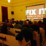 Some of the audience who came to screen the film FIX IT - Healthcare at the Tipping Point, at Founders Hall in East Blue Hill on Sunday March 19th. The film offers strong support for publicly funded universal healthcare from business owners and noted health policy experts .