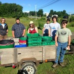 2016 Teen Ag Crew at Erickson Fields in Rockport.