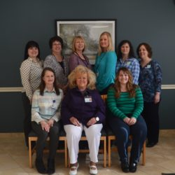 PHOTO back row left to right: Kayla Williams, Sharon Saucier, Pam Lavoie, Meagan Jandreau, Heidi Ouellette, Carolyn Taggett, Director  Seated left to right: Sue Saucier, Pauline Hebert, Tammy Roy