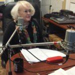 """Poetry by the Bay"" host Kristin Frangoulis interviews Belfast-area poet in the studio of Belfast Community Radio."