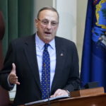 AUGUSTA, Maine -- 02/07/2017 -- Gov. Paul LePage addresses the chamber during the 2017 State of the State address at the State House in Augusta Tuesday. Ashley L. Conti | BDN