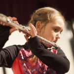 Rachael Brown, age 9, was the youngest performer at Eastport Arts Center's Open Mic, held March 11. The next Open Mic will be offered April 8.
