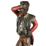 Circa 1870 American carved wooden figure of 'Jim Crow' or 'Daddy Rice' that sold for $157,950 at Thomaston Place Auction Galleries' Winter Auction on Feb. 11 & 12