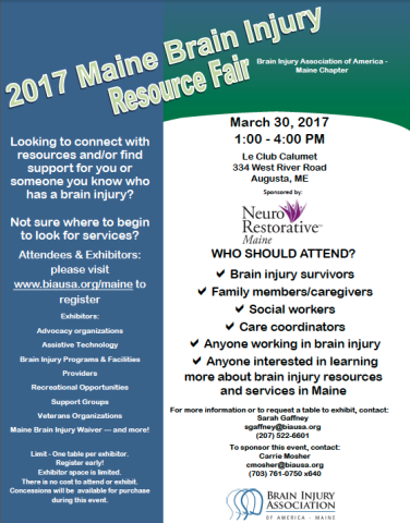 2017 Maine Brain Injury Resource Fair — User Submitted — Bangor