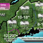 Up to 5 inches of snow expected in coastal, western Maine
