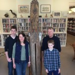 The Penfold Family with the Tan-Tam that they donated to the Blue Hill Public Library