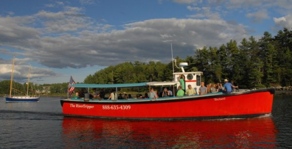 The River Tripper rides the Damariscotta River.