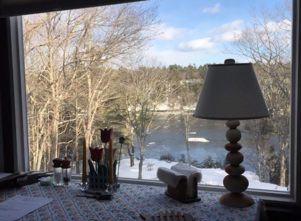 Ice floats down the Kennebec River in Phippsburg.