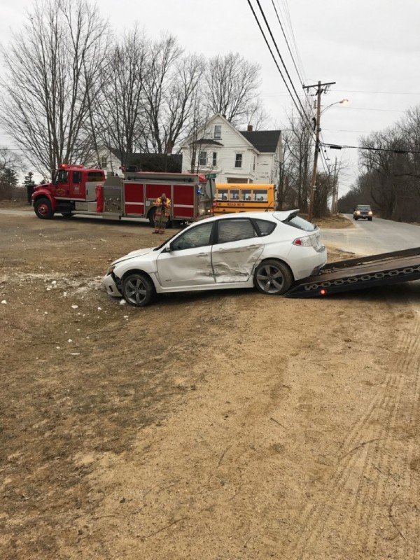 Maine State Police say a bus driver failed to come to a full stop at an intersection in Lebanon on Tuesday morning, crashing into another vehicle. Only one student was on the bus at the time. No one on the bus suffered injuries, but the driver of the other vehicle was taken to the hospital.