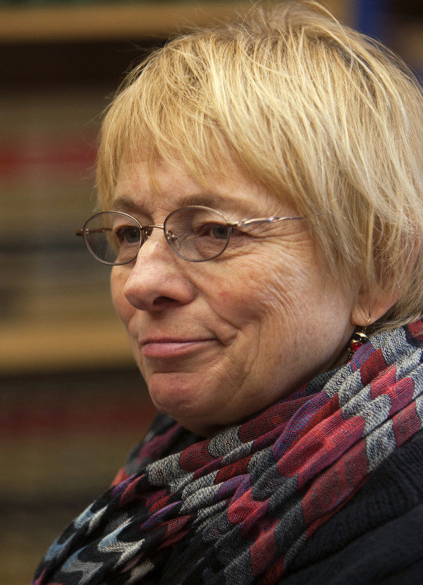 BANGOR, MAINE -- 01/09/2015 -- Maine Attorney General Janet Mills listens after swearing in employees in Bangor Friday. Ashley L. Conti | BDN
