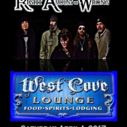 Right Amount of Wrong rocks the West Cove Lounge 2017 Rock RAW Tour!