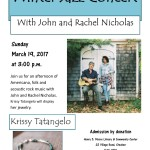 John and Rachel Nicholas perform March 19 at the library in Steuben.
