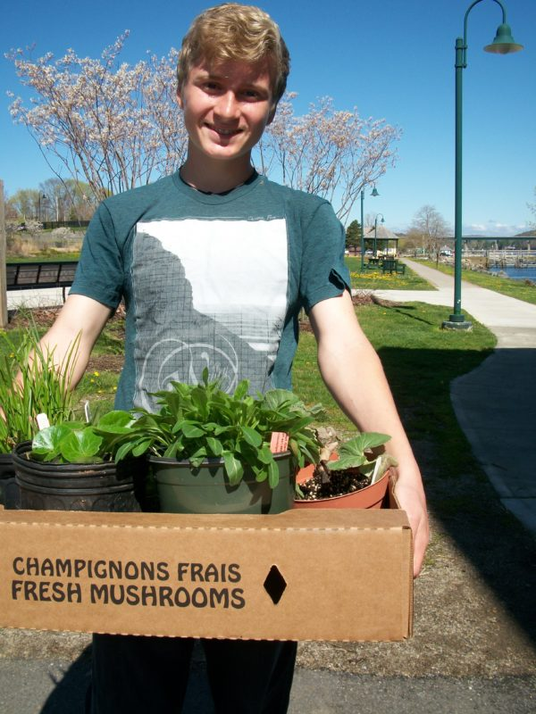 The 2017 Green Thumb Plant Sale at Belfast Boathouse is set for Saturday, May 20, from 9 a.m. to noon. Here's a customer at last year's sale.