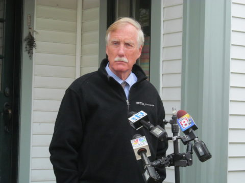 Independent U.S. Sen. Angus King at his home in Brunswick