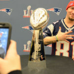 BANGOR, Maine -- 040117 -- New England Patriots fans enjoyed themselves thoroughly when the Lombardi Trophy came to Cross Insurance Center on Saturday. Nick Sambides Jr. | BDN