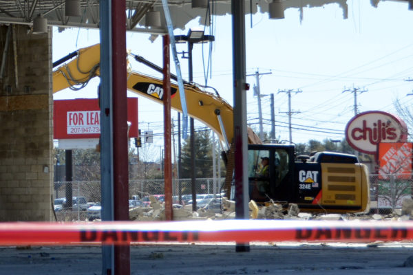 The former Circuit City on Stillwater Avenue near Home Depot is getting demolished. The property's owners have not yet said what their plans are for the parcel.