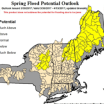 The National Weather Service issued this spring flood potential map based on this year's snowfall.