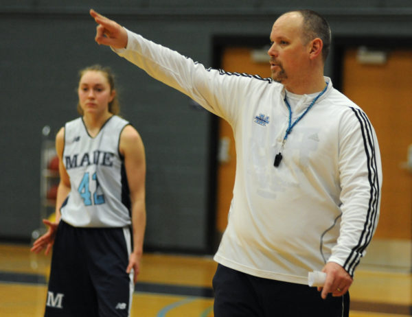 University of Maine women's basketball head coach Richard Barron, pictured in 2015, has relinquished control of the program for the 2017-2018 season to deal with significant health issues for which he has taken extended medical leave.