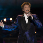 """Recording artist Barry Manilow performs during his """"One Last Time! Tour"""" at Staples Center in Los Angeles, California April 14, 2015."""