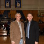 Maine Maritime Academy men's basketball coach David Muchnick (right) has resigned after three seasons.