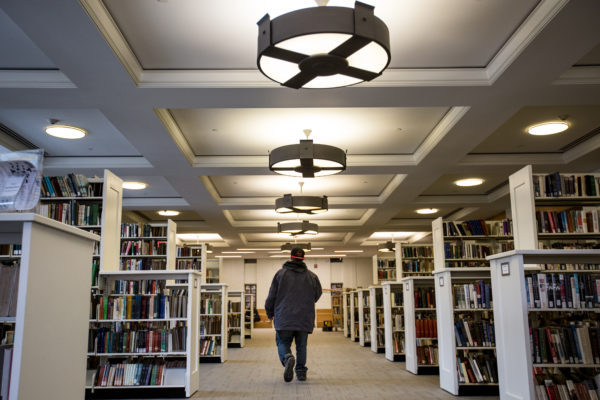 Jon Hunt, known better as Twitch to his friends, walks through the Bangor Public Library on a sunny afternoon at the end of March. Twitch has never held an official job. He's worked as a roofer, a blueberry raker and a construction worker, he said, but always under the table. Forty years ago, it was almost unheard of for a man of Twitch's age to be out of the workforce, meaning neither working nor looking for work. But today, some 15 percent of Maine men ages 25 to 54 find themselves in that situation, according to the Maine Department of Labor's Center for Workforce Research and Information.