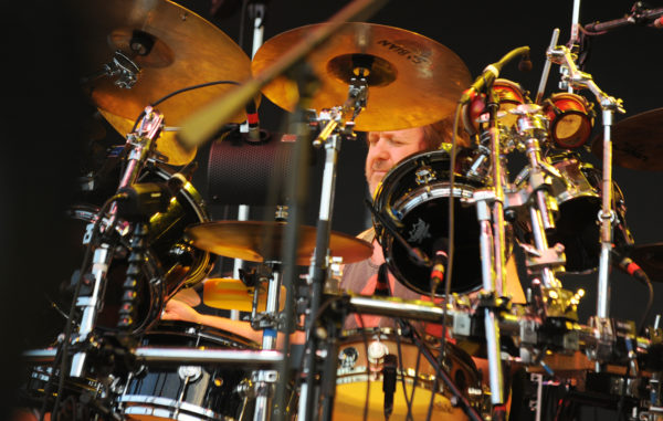 Jon Fishman, drummer for Phish, performs on stage at the Darling's Waterfront Pavilion on July 3, 2013.