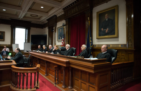 Maine Supreme Judicial Court hears arguments on ranked-choice voting Thursday morning at the Capital Judicial Center in Augusta.